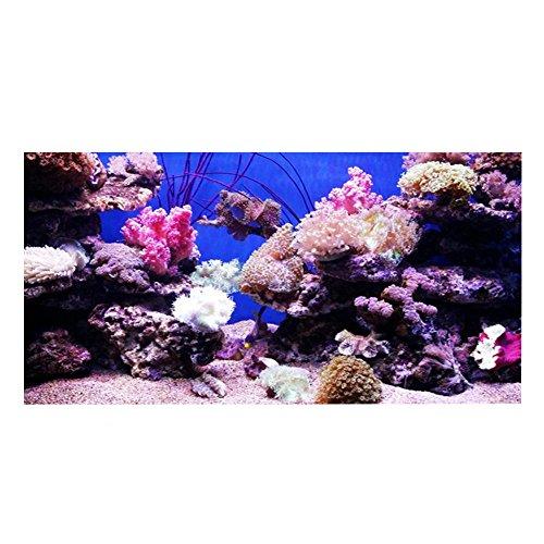 Poster voor aquarium 3D effect zelfklevende koraal seaworld poster voor aquariumdecoratie (122 * 50 cm)