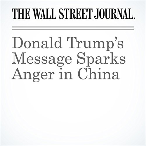 Donald Trump's Message Sparks Anger in China audiobook cover art