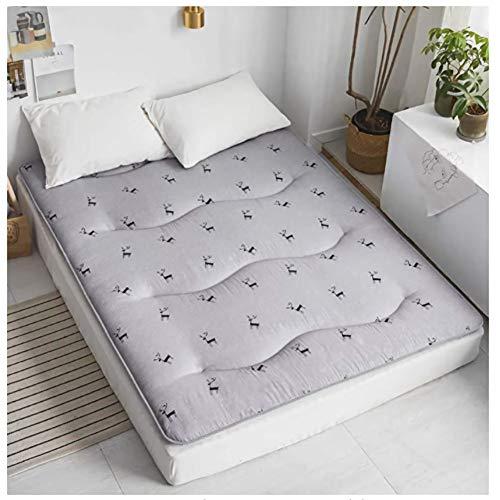 Tatami - Alfombrilla de dormir para el suelo de dormir, transpirable, para futón japonés Tatami, suave y gruesa, para colchón de dormitorio de estudiante LYFWMGOD/A / 100 x 200 cm