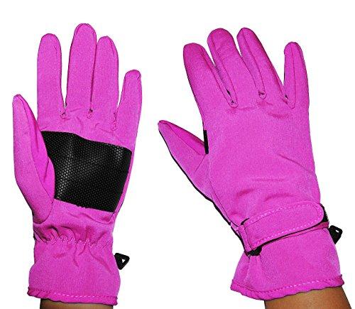 Kinder-land alles-meine.de GmbH Fingerhandschuhe Softshell - rosa pink - Thermo gefüttert mit Fleece - dünner Thermohandschuh - Größe: Erwachsene 7 - wasserdicht + atmungsaktiv Soft Shell - ..