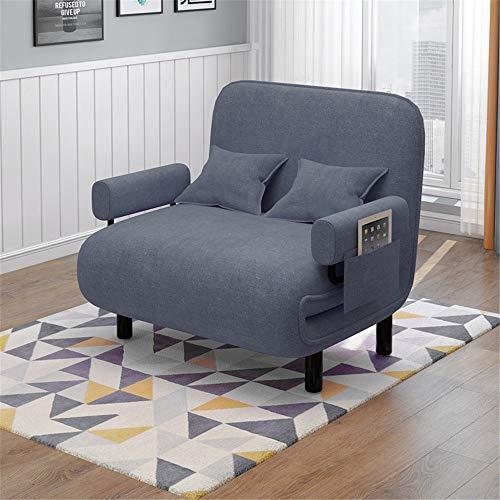 ZzheHou Cama Plegable Convertible sofá Cama Plegable Silla del Brazo Ajustable Diseño Almacenamiento fácil Ahorro de Espacio for Interiores Jardín (Color : Marrón, Size : 192x75cm)