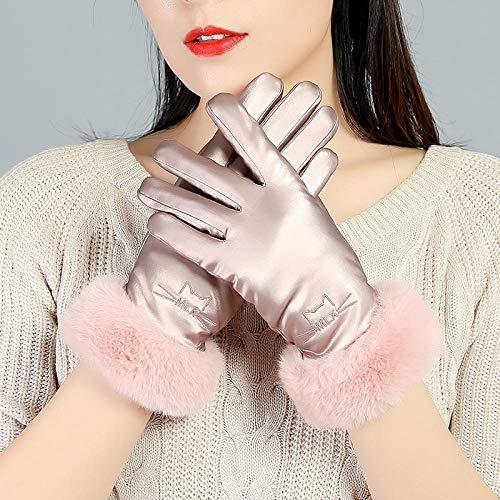 SHOUtao Handschuhe Winter Damen Plus Samt Dicke Daunen Baumwollhandschuhe wasserdicht Mode Bildschirm warme Handschuhe Outdoor kalte Fahrradhandschuhe