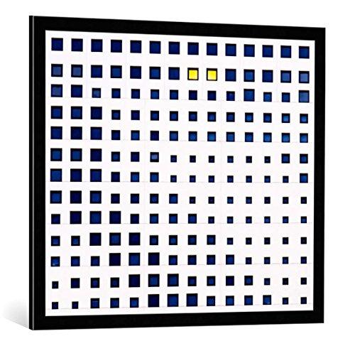 kunst für alle Bild mit Bilder-Rahmen: Gregory Evans Habitat - dekorativer Kunstdruck, hochwertig gerahmt, 85x75 cm, Schwarz/Kante grau