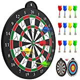 STREET WALK Magnetic Dart Board - 12pcs Magnetic Dart - Excellent Indoor Game and Party Games - Safe Magnetic Dart Board , Boys Toys for 5 6 7 8 9 10 11 12 Year Old Kids and Adult