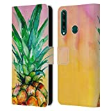 Head Case Designs Licenciado Oficialmente MAI Autumn Piña Ombre Pinturas Carcasa de Cuero Tipo Libro Compatible con Huawei Y6p