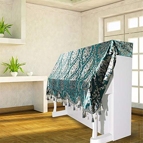 Lowest Prices! XuBa Premium Flannelette Floral Pattern Gold Blocking Blue Half-cover Dustproof Piano...
