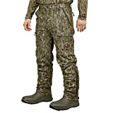 Mossy Oak Sherpa 2.0 Fleece Lined Camo Hunting Pants for Men, Hunting Clothes, Small, Bottomland