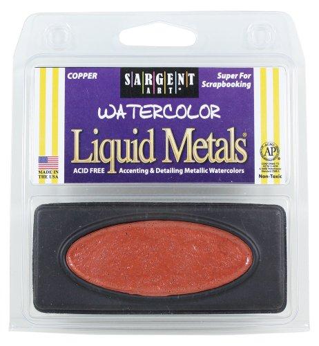 Sargent Art 66-8094 1-Count Oval Liquid Metal Watercolors, Copper