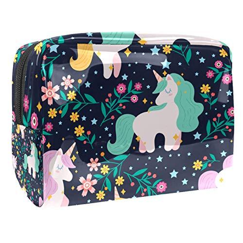Juego de parches mágicos lindos cosméticos organizador de maquillaje bolsa (7.3x3x5.1in/18.5x7.5x13cm) bolsa de maquillaje de viaje/bolso de embrague/bolsa de cosméticos/bolsa de maquillaje