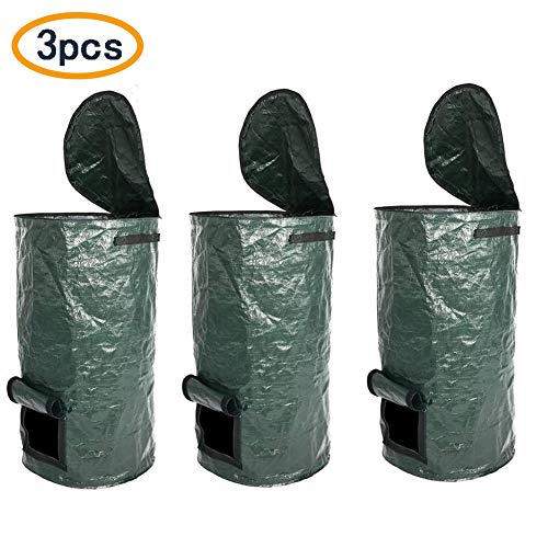 Buy Bargain Finly Garden Waste Bags Reusable, Reusable Yard Waste Bags Heavy Duty - Gardening Bags w...