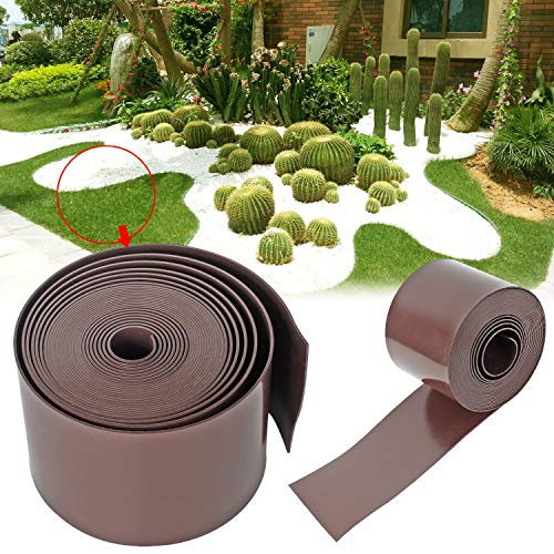 Forever Speed Rasenkante PE 2mm Rolle Glatt Kunststoff Beeteinfassung Rasenbegrenzung Beetumrandung 50m x 15cm (LxH) Braun (10m x 10cm)