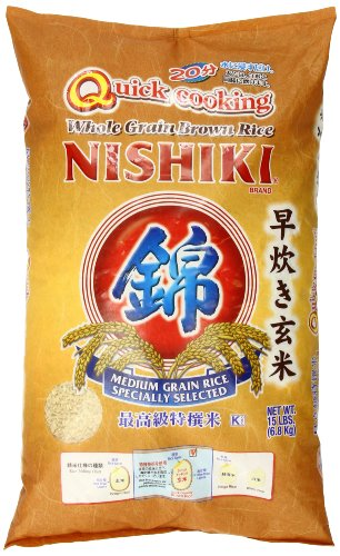 Nishiki Quick Cooking Brown Rice 15Pound