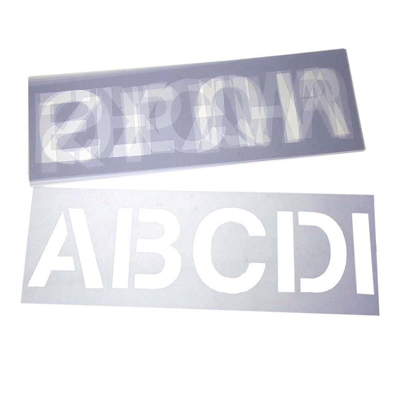 Homeford Alphabet Letter Stencil Set, 3-Inch, 6-Sheets