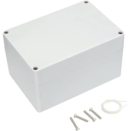 83 x 81 x 56 mm Zulkit Junction Box ABS Plastic Dustproof Waterproof IP65 Universal Electrical Boxes Project Enclosure Gray 3.3 x 3.2 x 2.2 inch