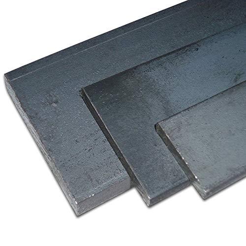 B&T Metall Stahl Flachstahl | Bandstahl S235JR+AR ST 37, roh, gewalzt, schwarz | Maße 40 x 4 mm, Länge ca. 2,0 m