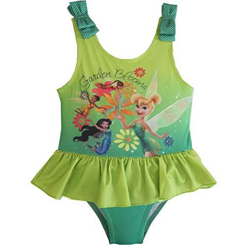 Tinker Bell one Piece Swimsuit (3t) Green