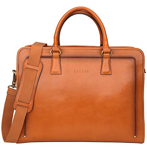 Banuce Full Grains Italian Leather Briefcase for Women Handbags Tote Business Bag Attache Case Ladies Messenger Satchel Purse