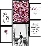 Papierschmiede® Mood-Poster Set Coco Rose Love   Bilder