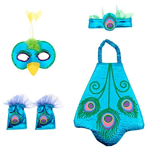Conjunto Disfraz Pavo Real Infantil (5 PCS) - Animales Carnaval