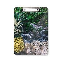 パイナップルの葉の植物の性質 フラットヘッドフォルダーライティングパッドテストA4