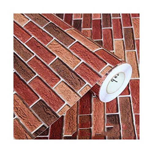 WHYBH HYCSP wasserdichte Brick Vinylwand-Aufkleber Modernes Wohnzimmer Hintergrund Selbstklebende Tapete Küche dekorative Aufkleber (Color : 8936, Size : 10m x 40cm)