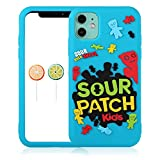 Coralogo Blue Sour Kid Case for iPhone 11 Cartoon Funny Kawaii Cute Silicone Fun Cover Stylish Fashion Unique Cool Pretty Design Fidget Aesthetic for Girls Boys Kids Cases (for iPhone 11 6.1')
