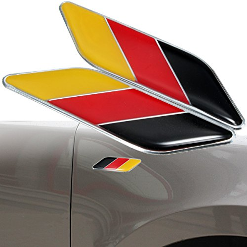 Alamor 2 Stks 3D Duitse vlag Sticker Badge emblemen Decal Decor Voor Auto Truck Bike Laptop