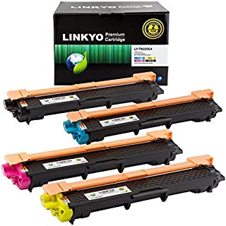 Linkyo Compatible Toner Cartridge Replacement for Brother TN221 TN225 (TN221BK, TN225C, TN225M, TN225Y, 4-Pack)