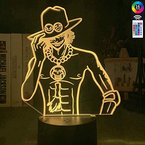 Tatapai 3D-Illusions-Lampe, LED-Nachtlicht, Anime, einteilig, Farbwechsel für Kinderzimmer, Dekoration, Cool USB