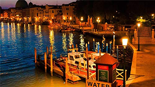 DIY 5D Diamond Painting Kits for Adults/Kids,Venice Landscape(50x100cm/20x40in)Round Drill Pictures Full Drill Cross Stitch Diamond Embroidery Mosaic Canvas Supply Art Craft for Home Wall Decor X7157