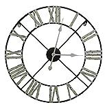 Mediano y grande metálica de esqueleto reloj de pared