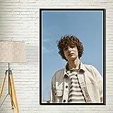 ganlanshu Actor Estrella de Cine Pintura al óleo Lienzo Vintage Imagen de la Pared Sala de Estar decoración del hogar,Pintura sin marco-50X75cm
