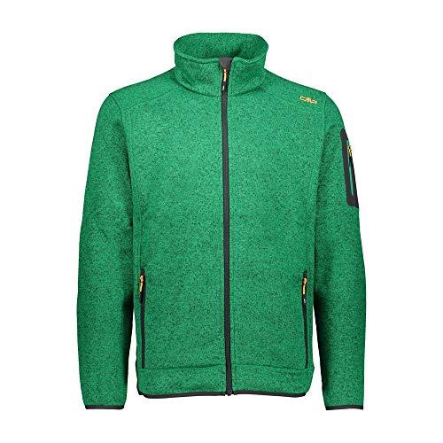 CMP – F.LLI Campagnolo Herren Knit Tech Polyester-Strickfleecejacke Fleecejacke, Irish Mel-Antracite, 56
