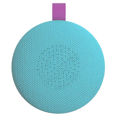 Aduro Wireless Portable Bluetooth Speaker, IPX4 Water Resistant Compact Indoor/Outdoor Speaker with Built-in-Mic (Turquoise/Purple)