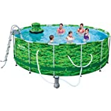 Bestway 14' x 48' Camo Steel Pro Frame Above Ground Swimming Pool Set