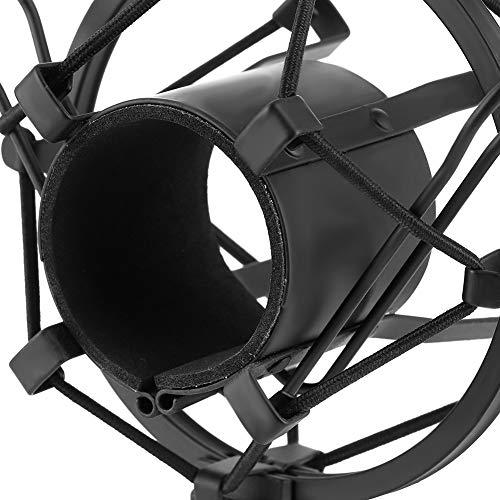 Montaje de choque negro, plástico y metálico Brazo de tijera de boom para 43-50 mm de diámetro con condensador MIC Studio Grabación