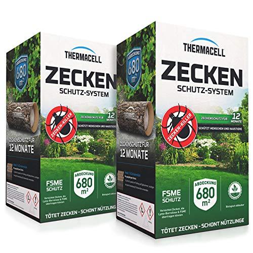 Thermacell Zeckenschutzsystem 16er Pack - Zeckenschutz Doppelpack - inklusive Rasch Mückenfreipapier
