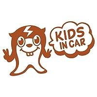 imoninn KIDS in car ステッカー 【シンプル版】 No.64 ピースさん (茶色)
