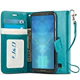 J&D Case Compatible for Moto Z3 Play Case, [Wallet Stand]