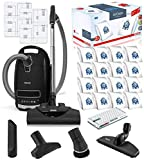 Miele Complete C3 Kona HEPA Canister Vacuum Cleaner with SEB228 Powerhead Bundle - Includes Miele Performance Pack 16 Type GN AirClean Genuine FilterBags + Genuine AH50 HEPA Filter