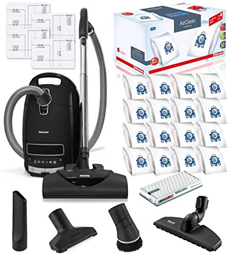 Miele Complete C3 Kona HEPA Canister Vacuum Cleaner with SEB228 Powerhead Bundle - Includes Miele Performance Pack 16 Type GN AirClean Genuine FilterBags + Genuine AH50 HEPA Filter New Mexico