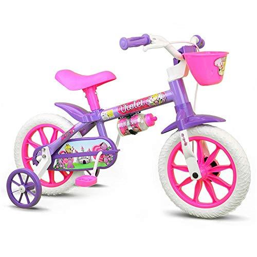 Bicicleta Infantil Aro 12 Violet com Rodinhas, Nathor