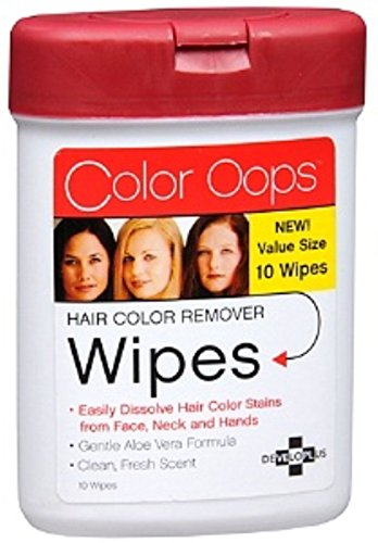 Color Oops Hair Color Remover Wipes 10 ea (Pack of 5)