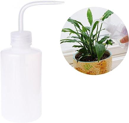 Xuniu 250 ml plástico Tipo apretón Botella de riego Planta Agua Puede Boquilla Curvada