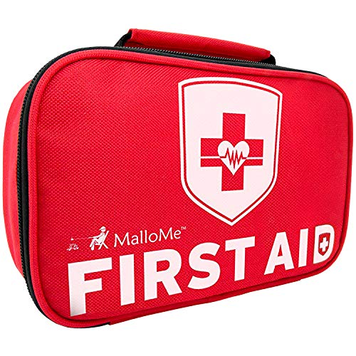 MalloMe First Aid Kit For Car, Travel, Home, Businesses, Hiking, Camping, Baby – 353 Pcs Best In Medical Tactical Survival Emergency Supplies Kits + BONUS Small Mini Compact 1st Aid Med Pouch Bag 52Pc