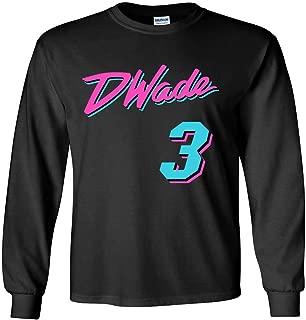 The Tune Guys Long Sleeve Black Miami Wade Vice City T-Shirt