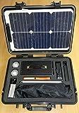 Kit Solar fotovoltaico Portátil con Panel Solar Semiflexible (bajo peso) - Manual Tracking - Display digital con tensión e intensidad - manual del usuario en español - medio de transporte waterproof. ENELTRA CASE 340