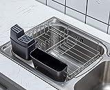 PremiumRacks in Sink Dish Rack - 304 Stainless Steel - Adjustable - Multipurpose