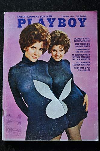 Playboy Magazine Twin Playmates October 1970