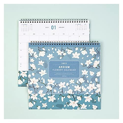 LZL Camelia a Todo Color Floral 2020-2021 Mensual Desk Calendar 14 Meses Calendario de Calendario de Escritorio académico de 14 Meses Calendario del Plan del Plan 10x7.1 (Color : B)